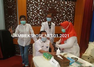 Pencanangan Vaksinasi Covid-19 Tahap  Ke-2 Provinsi Jambi Sudah Lengkap.