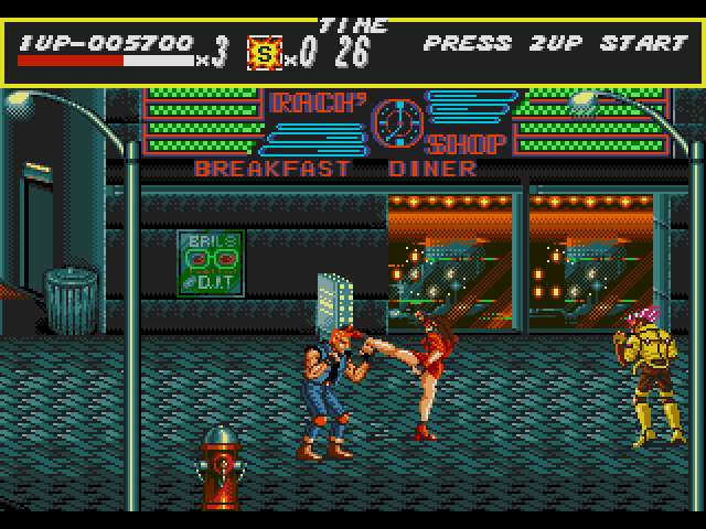 Fase 1 ou Round 1 do Street of Rage