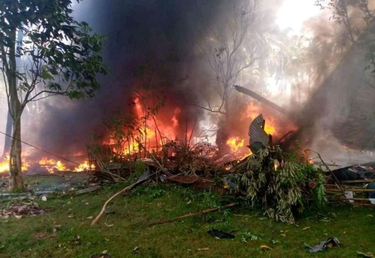 At least 17 dead in C-130 plane crash in Sulu