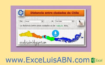Distancia entre ciudades de Chile v1.1