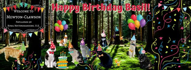Happy Birthday Basil - Mewton-Clawson Cats The B Team Pawty ©BionicBasil®