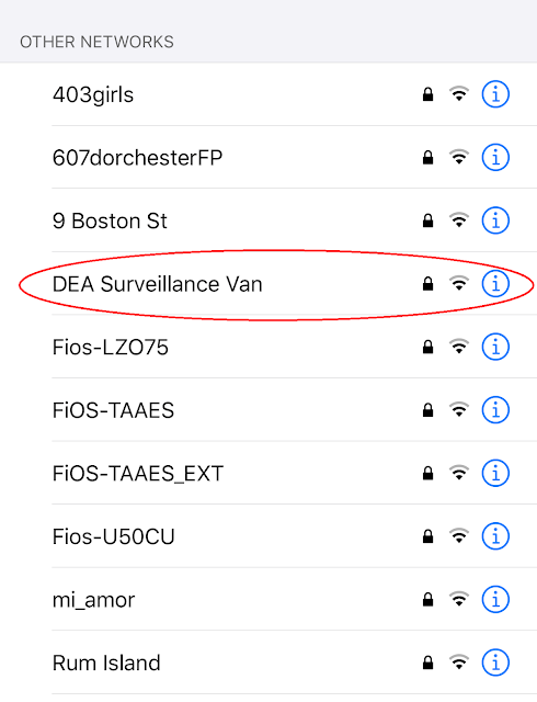 "Network Name: ""DEA Surveillance Van"""