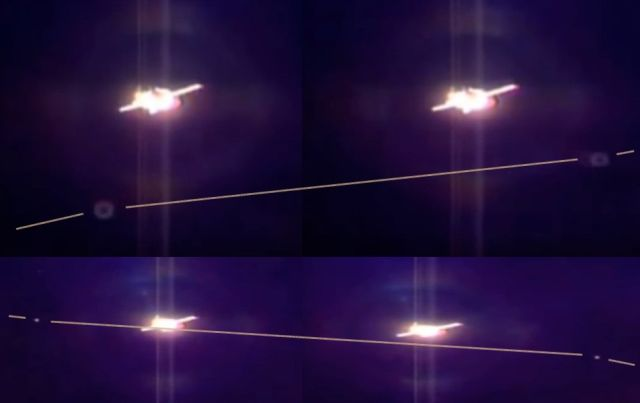 Swarms of UFO's seen during Soyuz Docking with the International Space Station  UFO%2BISS%2BSoyuz%2BSpace