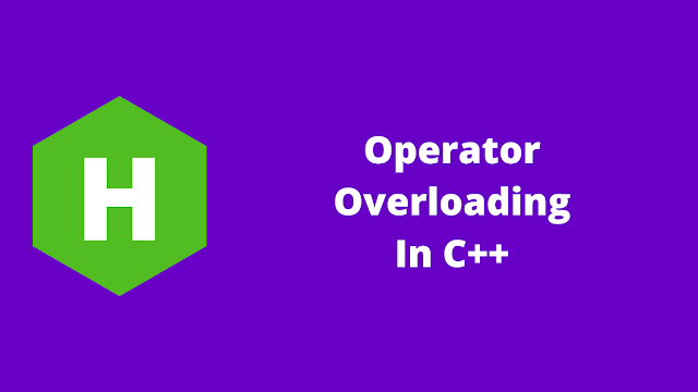 HackerRank Operator Overloading in C++ problem solution