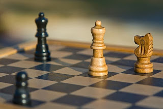 conflict on the chess board