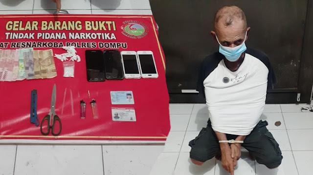 Waduh! Kakek 54 Tahun di NTB Ditangkap Karena Miliki Sabu 10,14 Gram