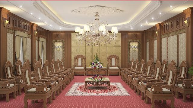 Thiết kế phòng khánh tiết với phong cách truyền thống đầy bề thế