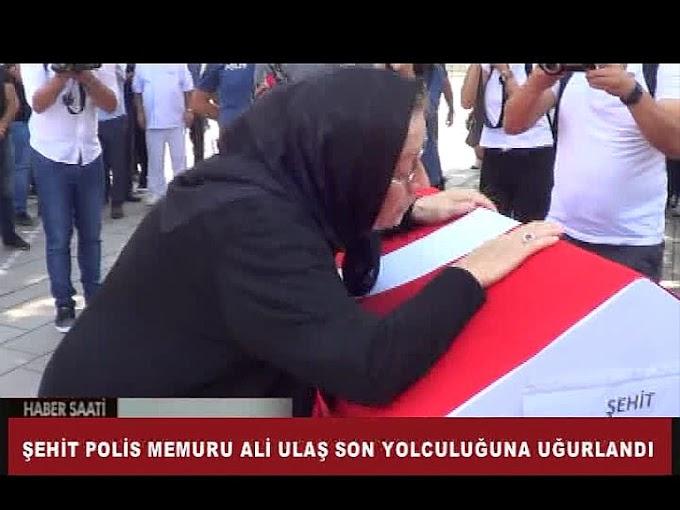 şehit olan polis memuru Ali Ulaş'ın cenazesi Turhal'da toprağa verildi.