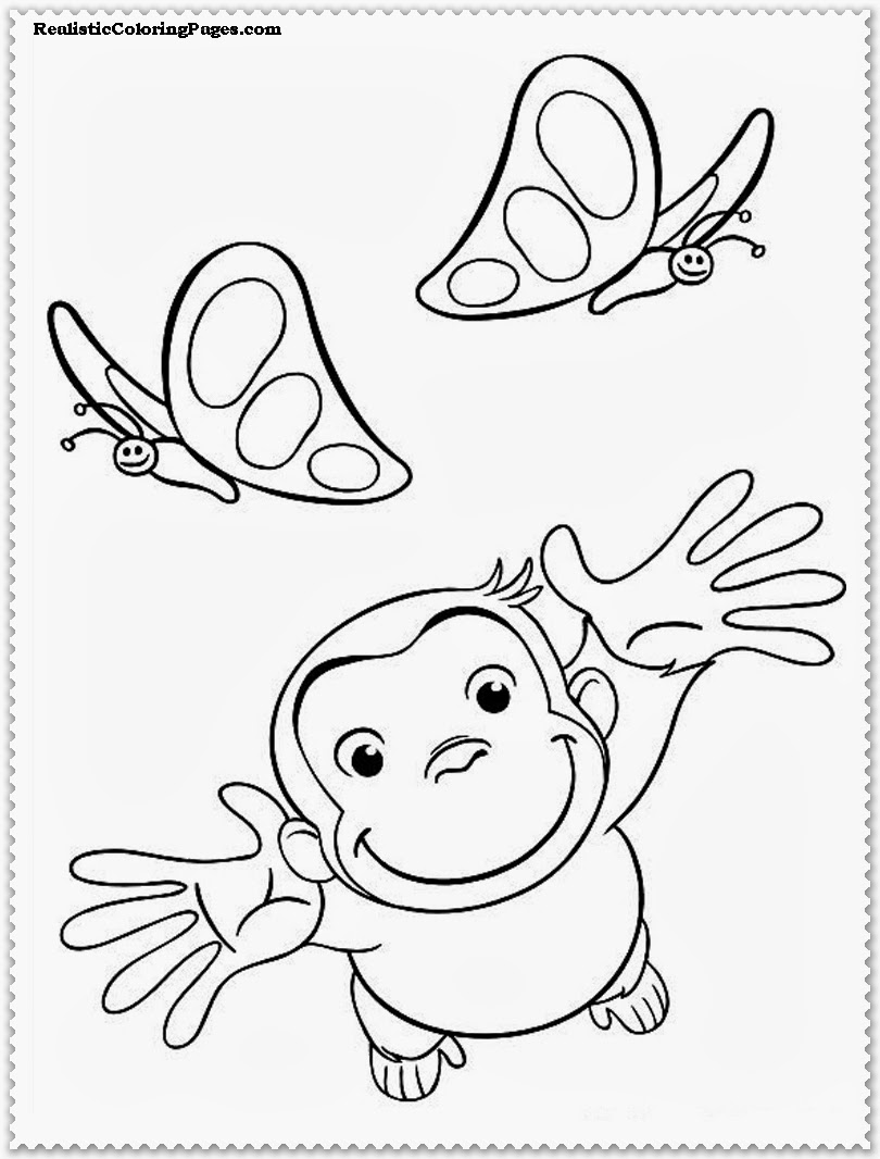 curious george coloring pages photos