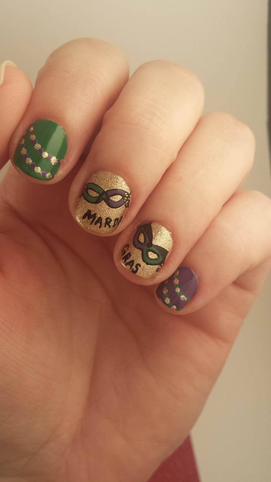 Mardi Gras Twin Mani with @Jodies_Nailz | IthinityBeauty.com Nail ...