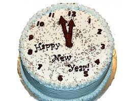 Beautifully designed Clock Shaped Cake for New Years
