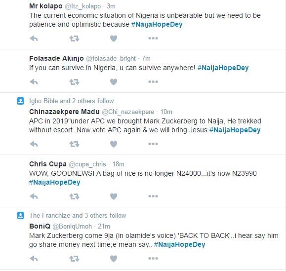 Nigerians are tweeting #NaijaHopeDey after Kenyan bashing