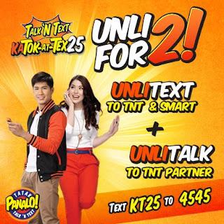 Talk N Text (TNT) promo