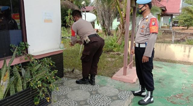 Polsek Pematang Karau Laksanakan Pendisiplinan Internal Protokol Kesehatan