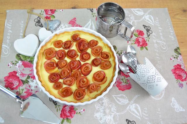 receta de tarta de rosas de manzana, tarta de avellana con rosas de manzana, tarta de manzana con rosas de manzanas, tarta de rosas de hojaldre y manzana, tarta de rosas de manzana,