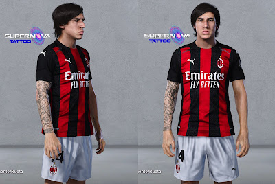 PES 2020 Tatoo Sandro Tonali by Supernova