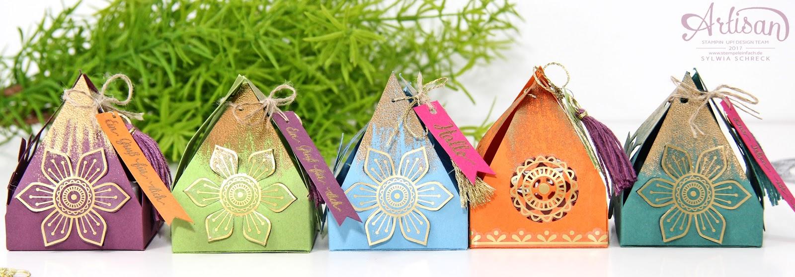 Stampin Up-Orientpalast-Boxen-Schönheit des Orients
