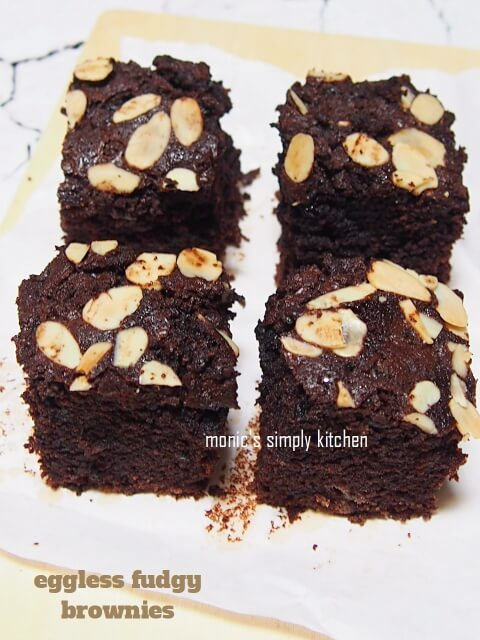 resep eggless fudgy brownies