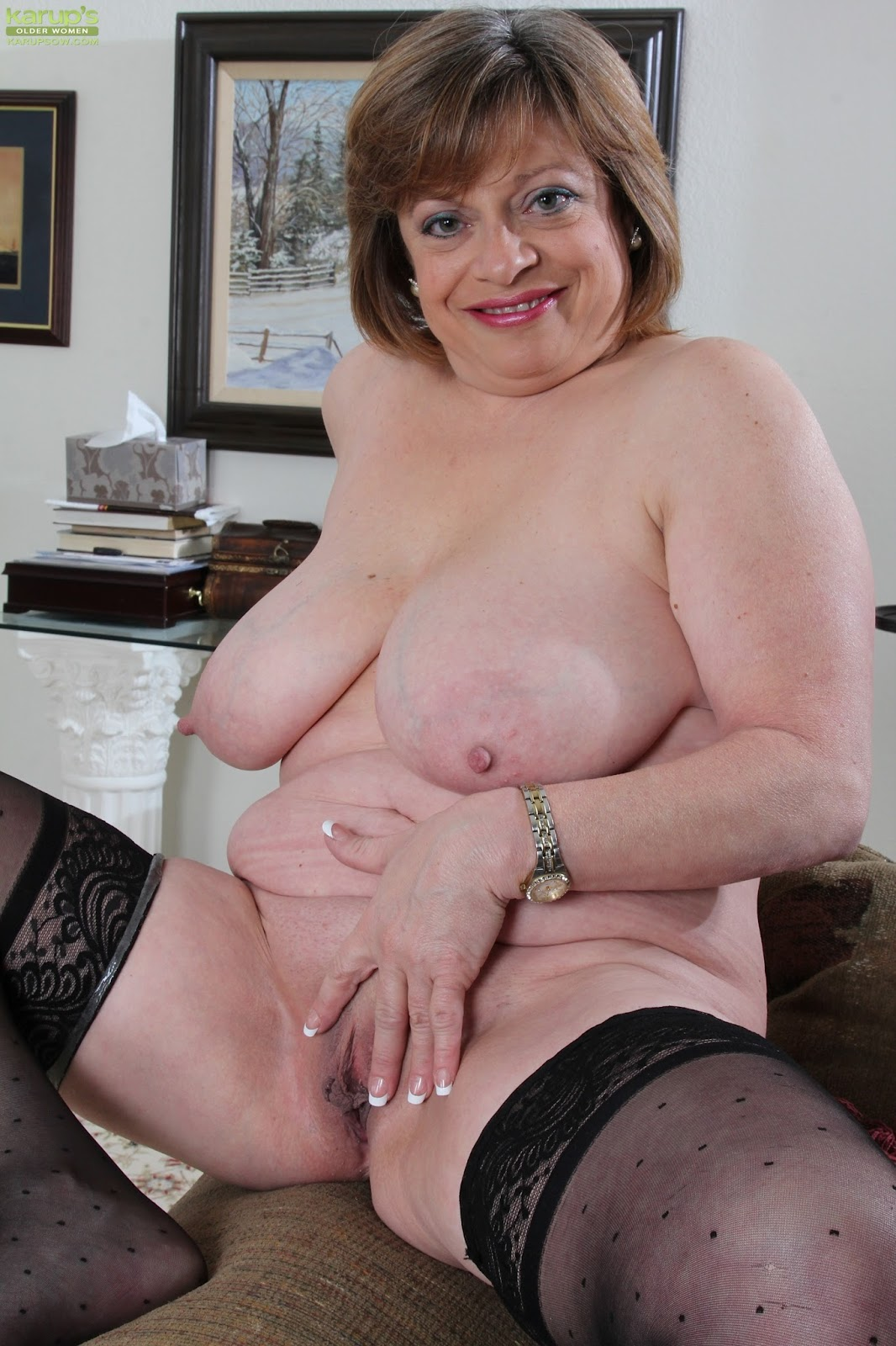 Old Mature Tits