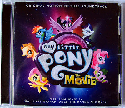 Front cover of the MLP Movie soundtrack CD