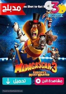 مشاهدة وتحميل فيلم مدغشقر الجزء الثالث اكثر المطلوبين في اوروبا Madagascar 3 Europes Most Wanted مدبلج عربي