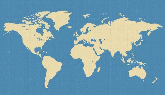 قارات ومحيطات العالم