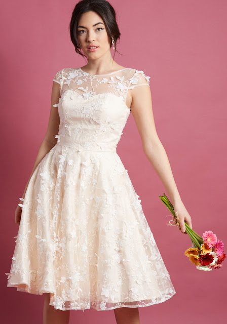 Eyes on the Bride A-Line Dress