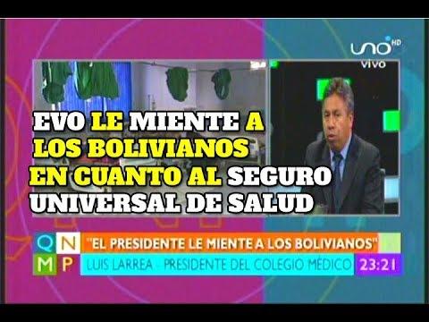 EVO LE MIENTE A LOS BOLIVIANOS CON EL SEGURO UNIVERSAL DE SALUD
