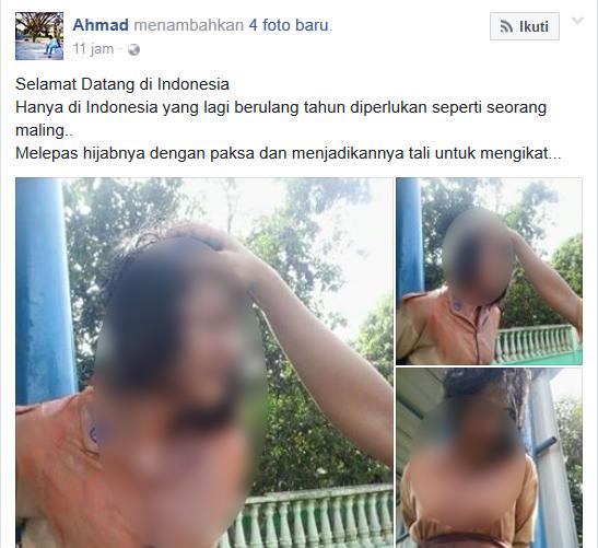 [Parahnya Dunia Pendidikan Indonesia] Siswi Ini Diikat di Tiang dengan Hijabnya dan Dilempari Telur