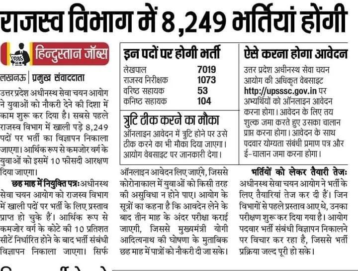 lekhpal new vacency