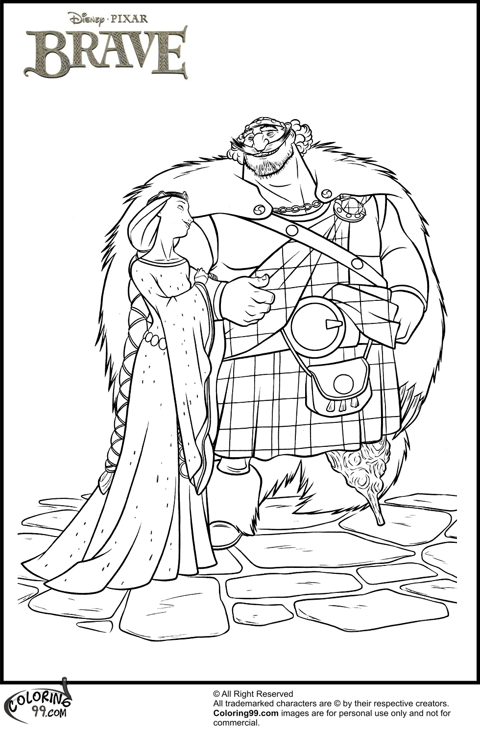 Disney Brave Coloring Pages