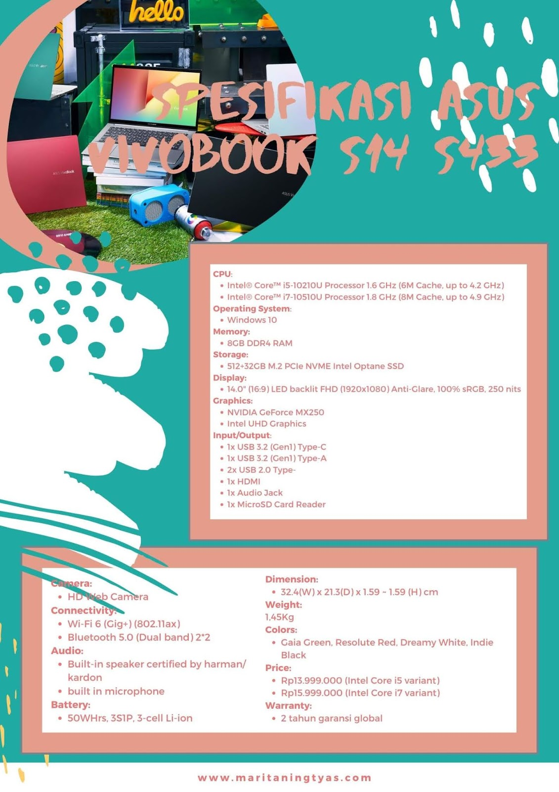 spesifikasi  ASUS VivoBook S14 s433