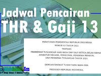 Jadwal Pencairan THR dan Gaji 13 Untuk PNS, TNI, Polri, Pensiunan, Penerima Tunjangan Tahun 2021