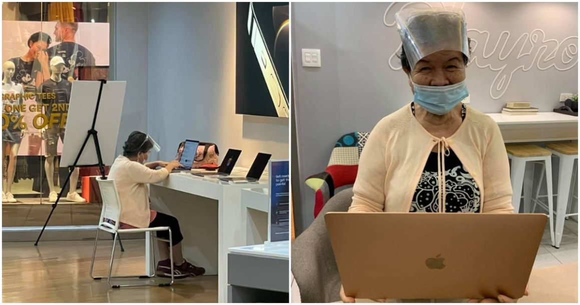 Old woman receives free MacBook Greenbelt