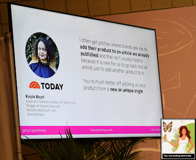 "@HurrayKimmay ""How Retailers Can Work with the Media and Influencers"" panel at CURVEXPO CURVE NEW YORK Kayla Boyd quote slide"