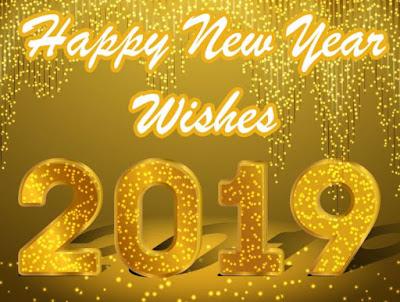 Gambar Selamat Tahun Baru 2019 Gold Happy New Year