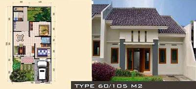 Gambar Rumah Minimalis Type 60/105