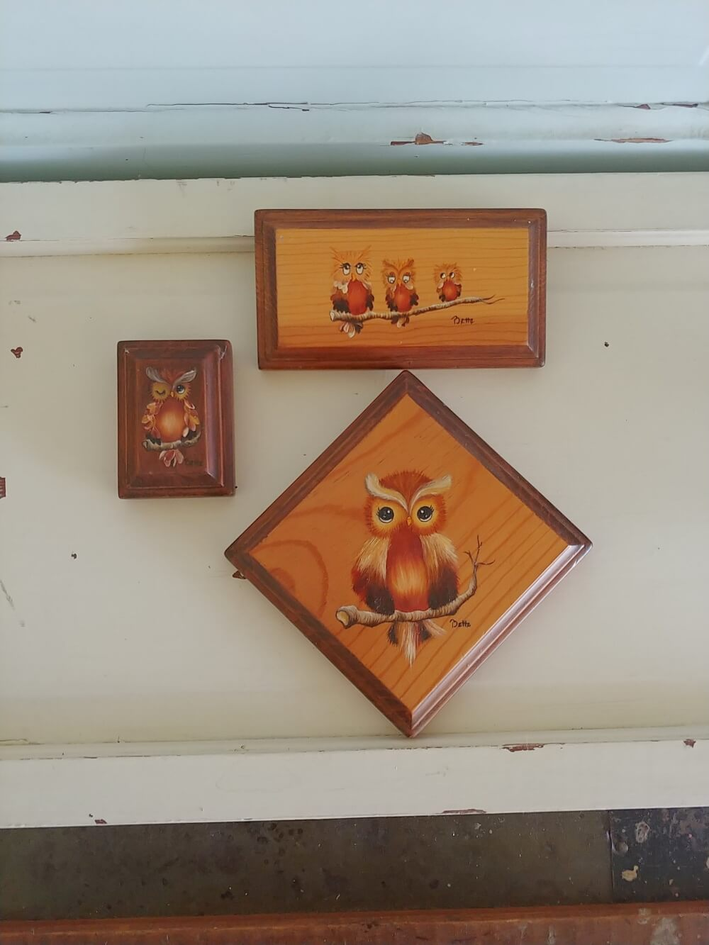 owl wall hanging grouping