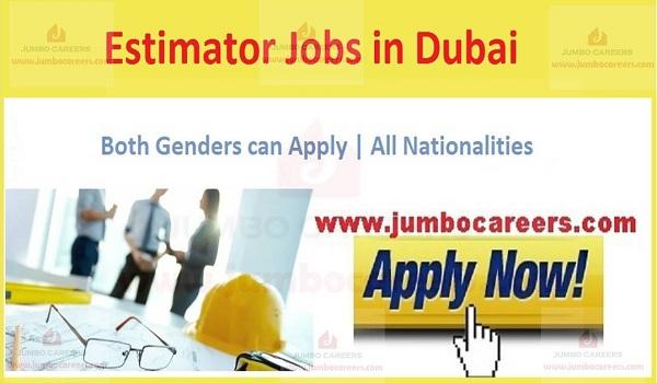 Aluminium and Glass Estimator Jobs in Dubai