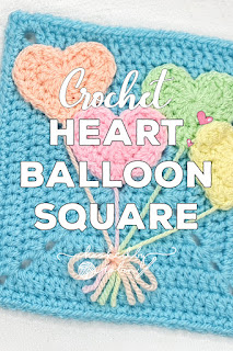 Unicorn Dreams Blanket CAL Heart Balloon Square Pattern