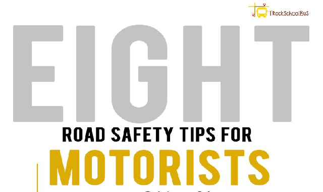 8 Road Safety Tips for Motorists #infographic
