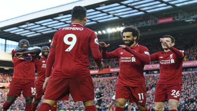 5ed6a4cd2a92a Liverpool respondeu brilhantemente às críticas e as dúvidas que começavam a  pairar sobre os comandados de Klopp. Num Anfield lotado e com apoio maciço  da ...