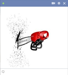 Chain Saw Emoticon For Facebook