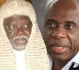 Justice Inyang Okoro  and amaechi