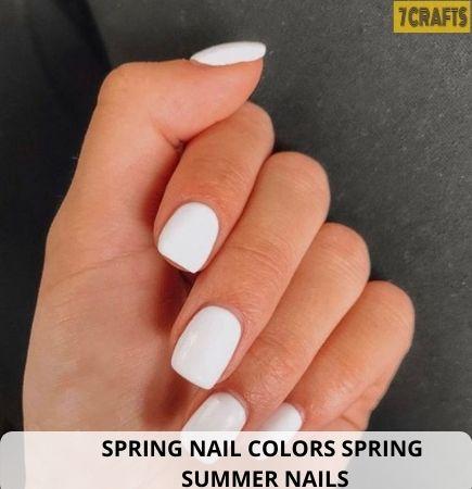 Bright White Spring nail