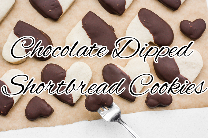How to make chocolate dipped shortbread cookies?