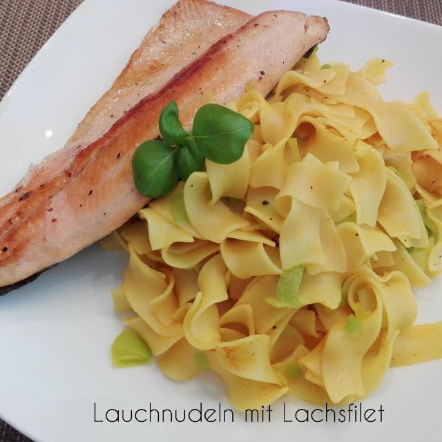 [Food] Lauchnudeln mit Lachsfilet