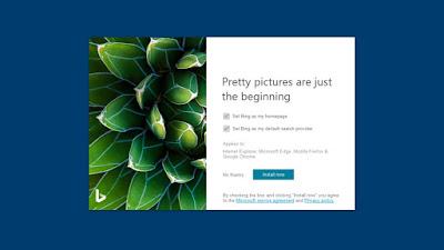 برنامج Bing Wallpaper ... لتصفح الصور على سطح المكتب  ومعرفة مصدرها ... رابط تحميل مباشر