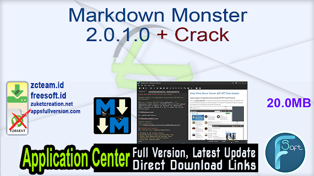 Markdown Monster 2.0.1.0 + Crack_ ZcTeam.id