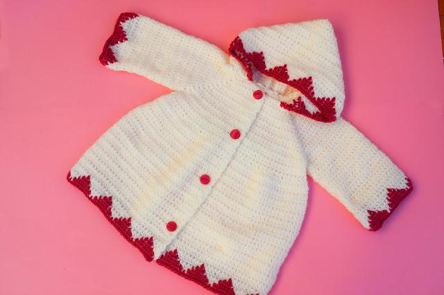 4 - Crochet Imagen Abrigo con capucha crochet parte 2 y ganchillo Majovel Crochet bareta puntada punto sencillo facil DIY canesu manga